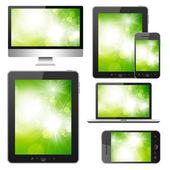 Set van moderne digitale apparaten — Stockfoto