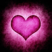 Dark grunge purple heart — Stock Photo
