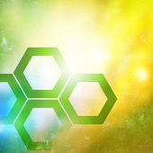 Abstract yellow and green background — Stock Photo
