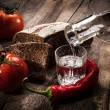Vintage vodka still life — Stock Photo
