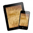 Tablet pc and mobile phone — Stock Photo #30274777