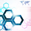 Hexagon background — Stock Photo