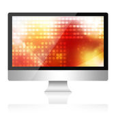 Computer isolated on white background — Stock Photo