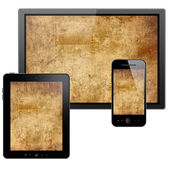 Tablet pc, mobile phone and HD TV — Zdjęcie stockowe