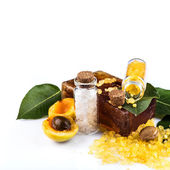 Spa with apricot — Stock Photo