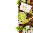 Green spa still life with space for text — Stock Photo #30797721