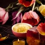 Spa with tulip — Stock Photo