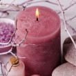 Spa and candle — Stock Photo