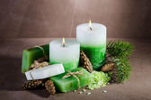 Candle and soap — Stock Photo