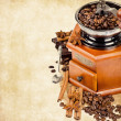 Coffee grinder with coffee beans — Stock fotografie