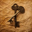 Stock Photo: Vintage background with old keys