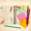 Notepad with pencils — Stockfoto