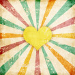 Heart and sunlights — Stock Photo