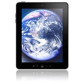 Tablet pc with abstract picture on screen — Foto Stock