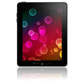 Tablet pc with abstract picture on screen — Stock Photo