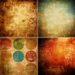 Grunge background set — Stock Photo