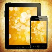 планшетный пк и мобильный телефон — Стоковое фото