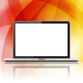 Laptop with blank screen — Stock Photo