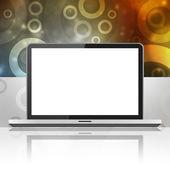 Laptop med blank skärm — Stockfoto