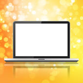 Laptop with white screen — Stock Photo