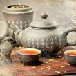 Tea on table — Stock fotografie