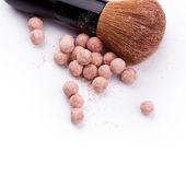 Powder ball with brush — Stock Photo