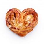 Tasty bun with jam isolated on white background — Stock Photo #46426673