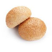 Round sandwich bun with sesame — Stock Photo