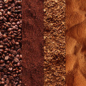 Collage of coffee — Stock Photo