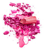 Eye shadow, nail polish and lipstick — Stock Photo