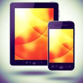 Tablet pc y teléfono móvil — Foto de Stock