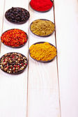Spices in bowls — Stock Photo