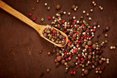Pepper on spoon — Stock Photo