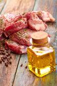 Syrové steaky — Stock fotografie