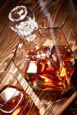 Cognac with cigar — Stock Photo