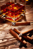 Cognac with cigars — Stock Photo