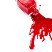 Red nail polish — Stock Photo