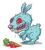 Angry rabbit — Stock Vector