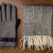 Stock Photo: Gloves and scarf