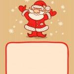 Santa and snow — Stock Vector
