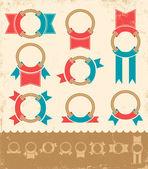 Banner marino — Vettoriale Stock