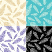 Seamless feather pattern — Stock Vector