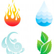 Four elements — Stock Vector #6461795