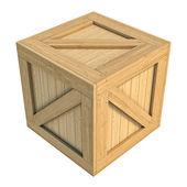 Wooden box isolated on white background — Stock Photo