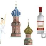 Russian Symbols — Stock Vector