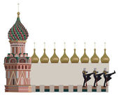 Kremlin Tower and Russian Soldiers — Stock Vector
