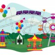 Amusement Park — Stock Vector #31649705