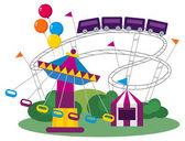 Amusement Park — Stock Vector
