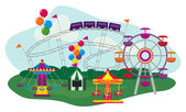 Amusement Park — Stock Vector