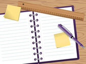 Notepad — Stock Vector